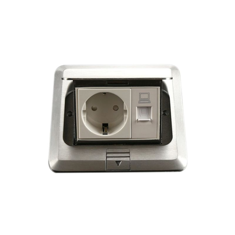 16A 125V Pop Up Floor Power Outlet EU Standard Russia Spain Socket with Computer