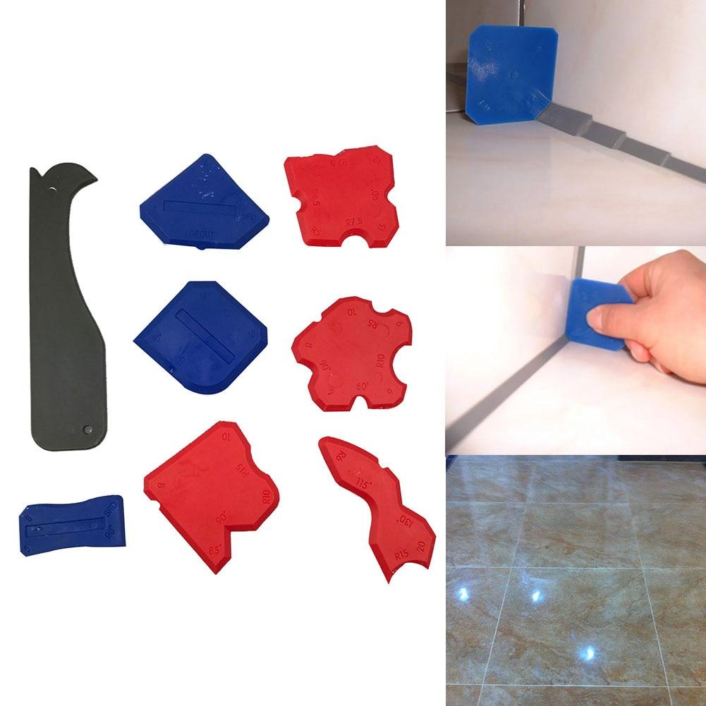 8 Pcs Profile Line Smoothing Caulk Remover Shovel Glue Multifunction Tool Caulking Finishing Home Silicone Sealant Joint Corner