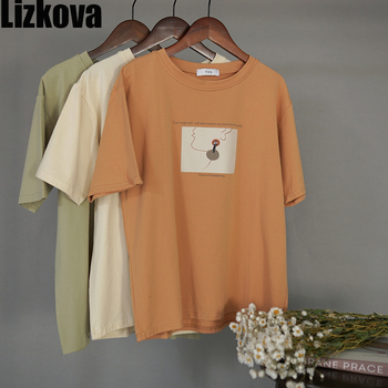 cotton line character print womens tshirt