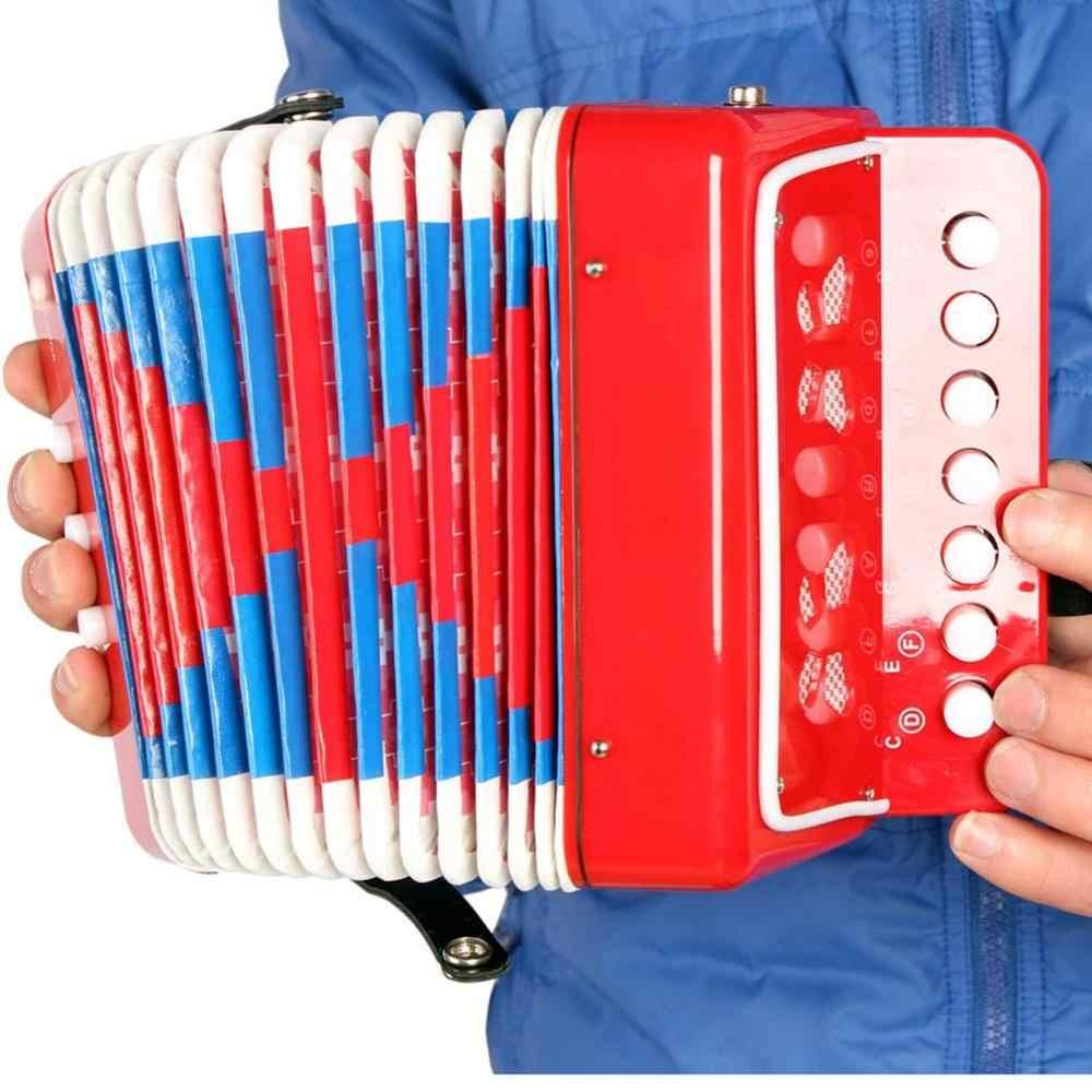 حار 2020 1 قطعة أطفال صغيرة الأكورديون 7-Key 3 باس التعليمية الأطفال المبتدئين ممارسة أداة عزف موسيقى الفرقة لعبة دروبشيبينغ