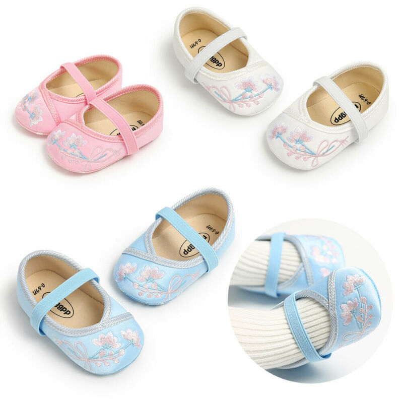 Newborn Baby Anti-slip Sneakers Pram Infant Girl Crib Shoes Soft Sole Prewalkers