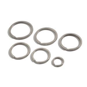 10 pçs/lote 15mm 25mm 28mm 30mm 32mm 35mm Buraco De Aço Inoxidável Anel Chave Chaveiro Rhodium Dividir Apartamento Keychain