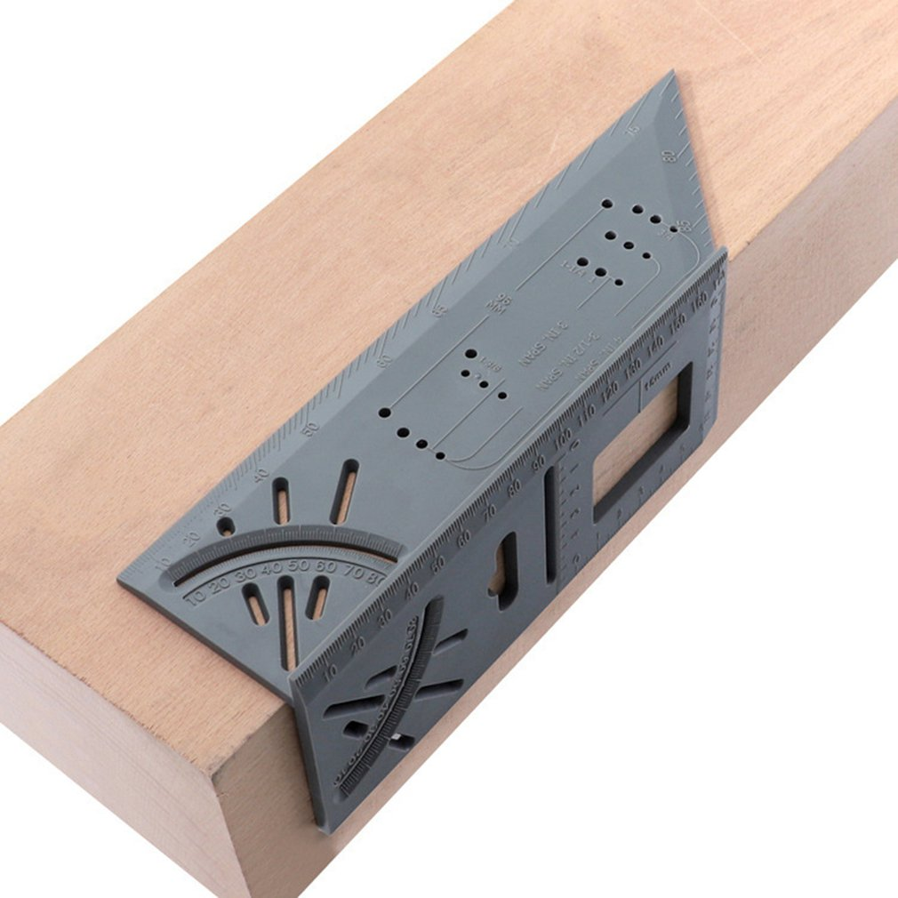 3D Mitre Angle Measuring Ruler Scribe Mark Line Gauge Carpenter Ruler Square Layout Miter 45 And 90 Degrees Woodworking Scribe