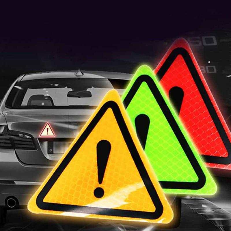 Светоотражающая треугольная предупреждающая наклейка на заднюю часть кузова автомобиля, защитная наклейка, украшение для автомобиля и мот...