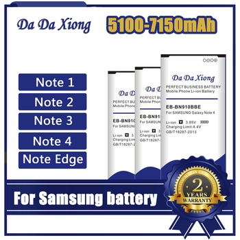 High Capacity Battery For Samsung Galaxy Note Edge 2 3 4 phone replacement Batteries N910H N910A N9150 N915K N7100 E250 N9000 цена 2017