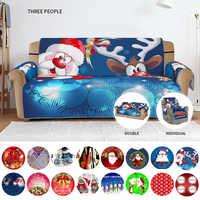 Natal impresso sofá capa slipcover elástico estiramento quatro temporada sofá cobre protetor de móveis lavável capa