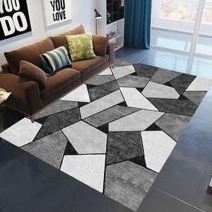 Geometric Anti-slip Carpet Indoor Printed Decoration Area Rugs Living Room Bedroom Bedside Bay Window Sofa Floor Decor Mat
