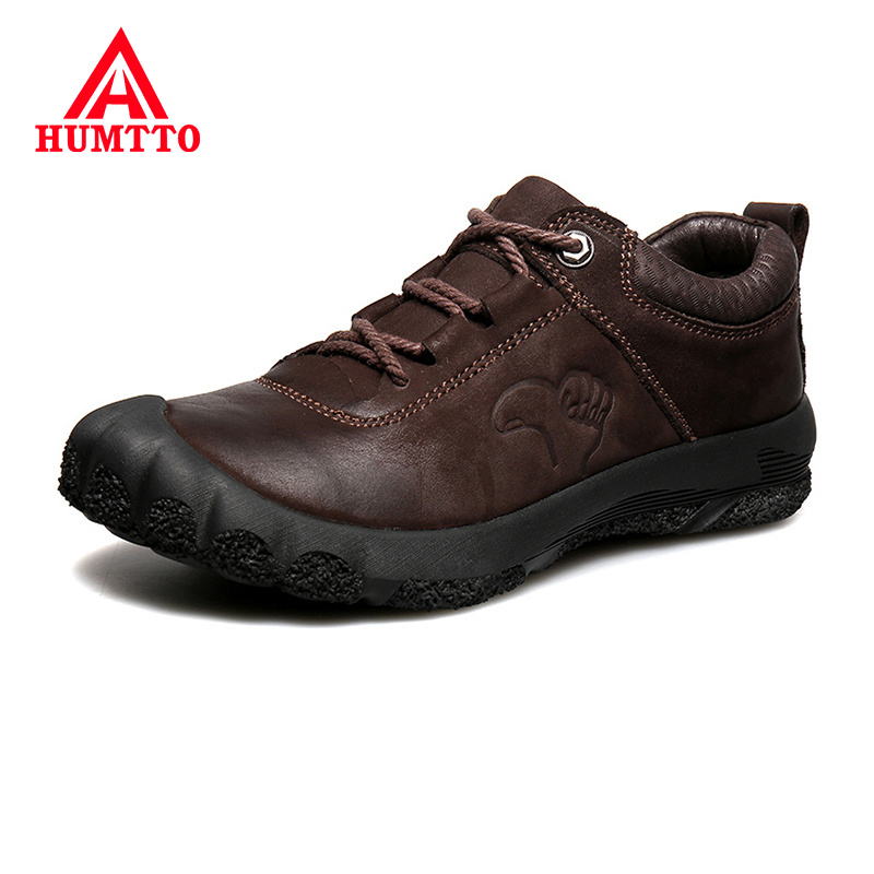 Cheap Luxury Brand Cow Leather Adult Shoes Men Fashion Casual Mens Non-slip Lace-up Outdoor Work Black Sneakers Big Size 38-46
