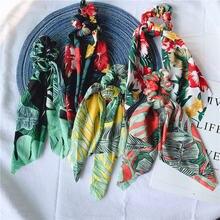 Женские резинки для волос с бантом в стиле бохо модные принтом