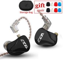 CCA CA16 7BA+1DD Hybrid HIFI Bass Earbuds In-Ear Monitor Sport Noise Cancelling Earphones  Music Sport KZ ZS10 PRO AS12 AS16 ZSN