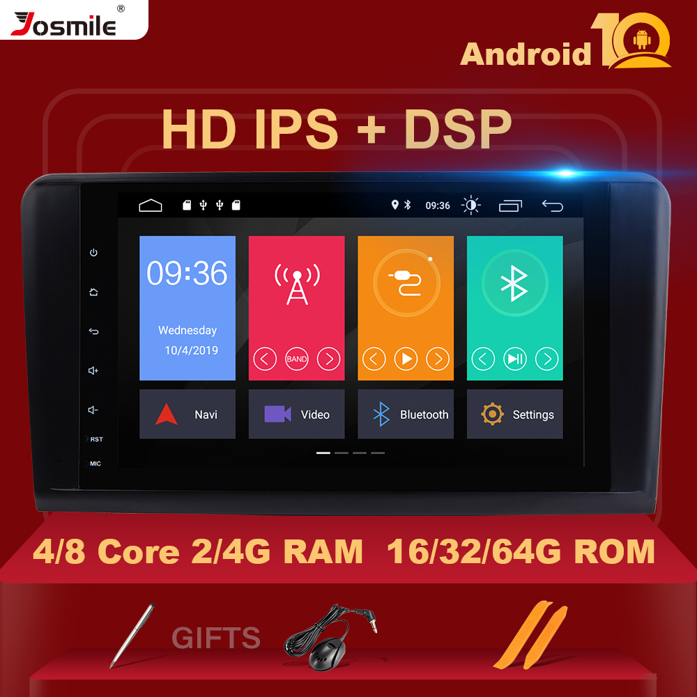 8 core Android 10 4G Ram Car GPS FOR BENZ <font><b>ML</b></font> 320/<font><b>ML</b></font> <font><b>350</b></font>/<font><b>W164</b></font>(2005-2012) GL 2 Din Multimedia Navigation stereo DAB+ Wifi Camera image