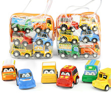 6pcs/bag Pull Back Car Toys For Boys Girls Children Kids Baby Cars Vehicle Plastic Funny Educational Toy Christmas New Year Gift pull back car 36 pack set of toy cars party favor mini toy cars set for boys kids child birthday play plastic vehicle set