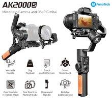 Feiyutech ak2000s dslr câmera estabilizador de vídeo handheld cardan apto para dslr mirrorless câmera 2.2 kg carga útil