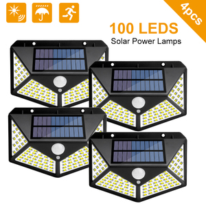 Outdoor LED Solar Light Motion Sensor Waterproof Sunlight Garden Decoration Street Lights Waterproof Solar Powered Wall Lamp