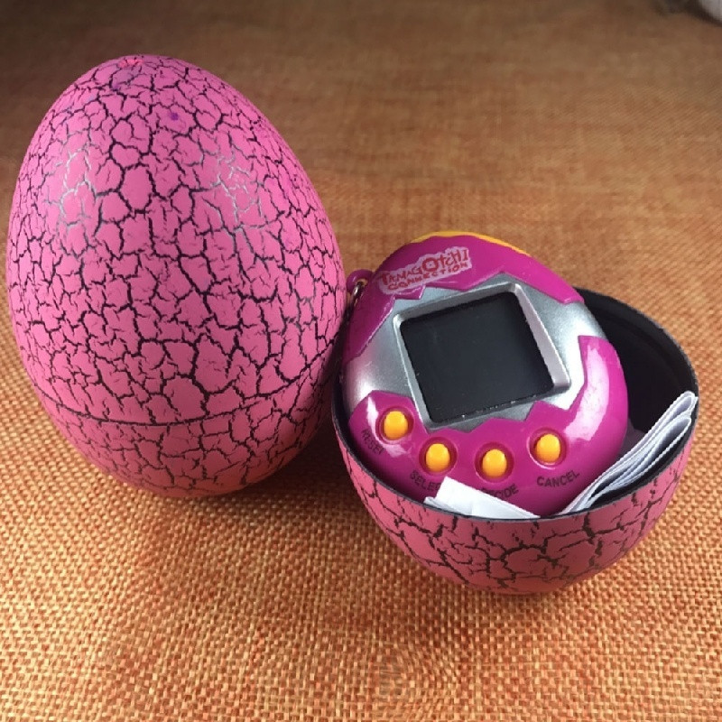 New 1 Pc Crack Egg Electronic Game Machine Virtual Pet Video Game Consolesole Best Birthday Gift To Children 9 Cm Broken Eggs