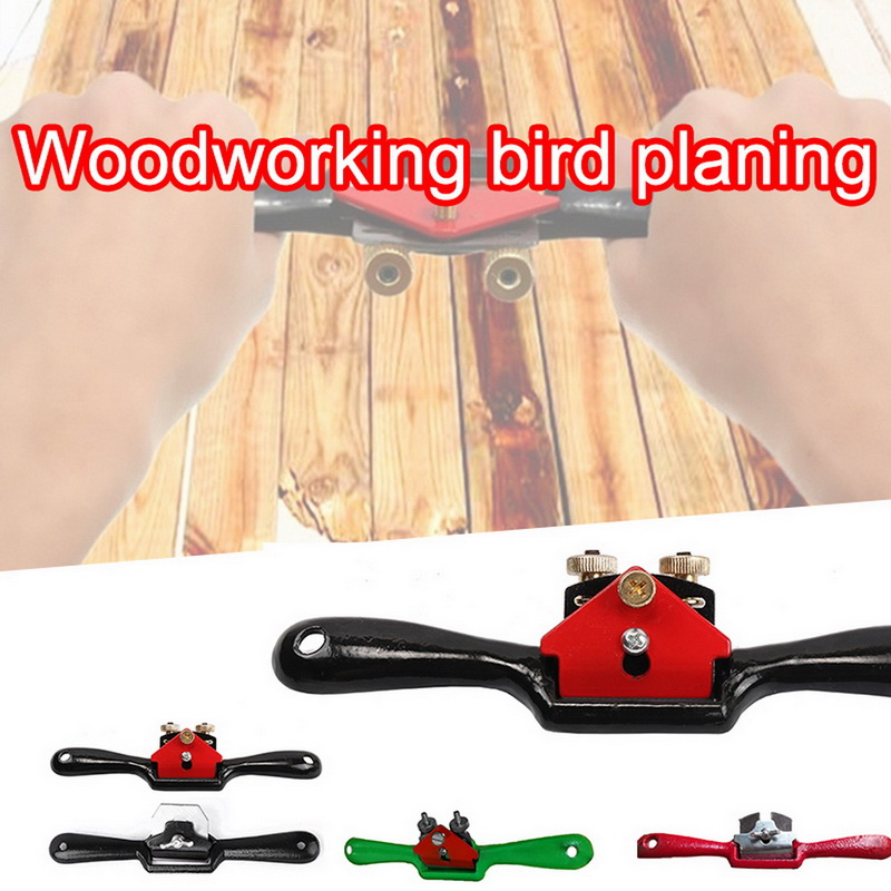New 9in/10in Adjustable Plane Spokeshave Woodworking Hand Planer Trimming Tools Wood Hand Cutting Edge Chisel Tool With Screw