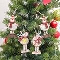 Деревянные висячие елки лося кулон орнамент новый год Рождество вечерние украшения для дома праздника
