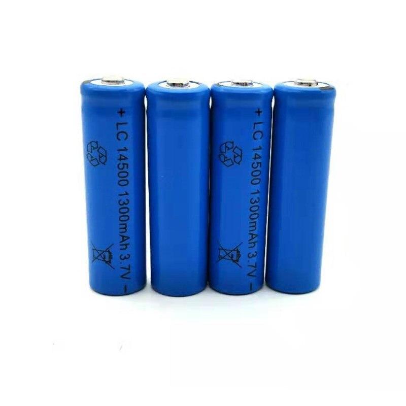 Alta Quanlity 4pcs Bateria Bateria Recarregável 3.7V 1300mAh 14500 bateria