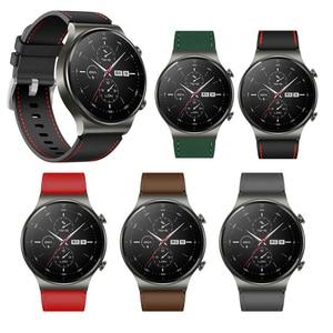 Image 2 - Sportowy skórzany pasek do zegarka Huawei GT 2 Pro pasek oficjalny styl Watchband do huawei gt2 pro opaska wymiana bransoletki