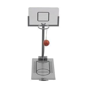 Minimáquina de baloncesto plegable de escritorio para niños, juegos de mesa, reducción de presión, juegos de mesa