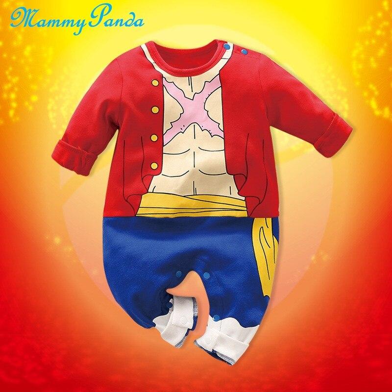 MPANDA One Piece Luffy NARUTO Jumpsuits Baby Boy Romper Kids Clothes Bodysuit For Newborns Cotton Anime Monkey D Cloud Uzumaki