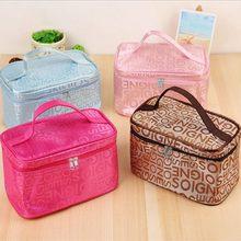 Sac à cosmétiques en forme de lettre pour voyage, sac de rangement Portable, sac de lavage, sac de rangement, organisateur de bagages, sac isotherme, sac à déjeuner pour femme