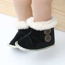 Baby Girl Boys Shoes Newborn Infant Baby Autumn Winter Slip-On Solid Metail Decoration First Walkers Kid Shoes Boots 2019(China)