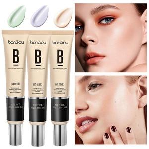BANZOU Moisturizing Whitening Concealer Foundation Cream Before Makeup Base BB Cream Long-lasting Brighten Face Comestic TSLM2