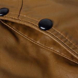 Image 5 - HCXY chaquetas de cuero para hombre, ropa de cuero PU para otoño, de negocios, informales, 2019