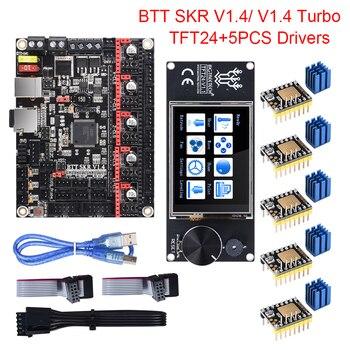 rumba plus 3d printer motherboard upgrade rumba control board mpu rumba optimized version with 6pcs tmc2208 stepper driver BIGTREETECH BTT SKR V1.4 SKR V1.4 Turbo Control Board TFT24 Touch Screen Upgrade SKR V1.3 TMC2209 TMC2208 Stepper Motor Driver