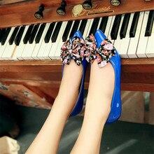 Pointed Toe Flat Shoes Women Bow Causal Slip on Womens Ballet Flats 2020 Spring Elegant Dress Flats Ballerina Cute Shoes Blue