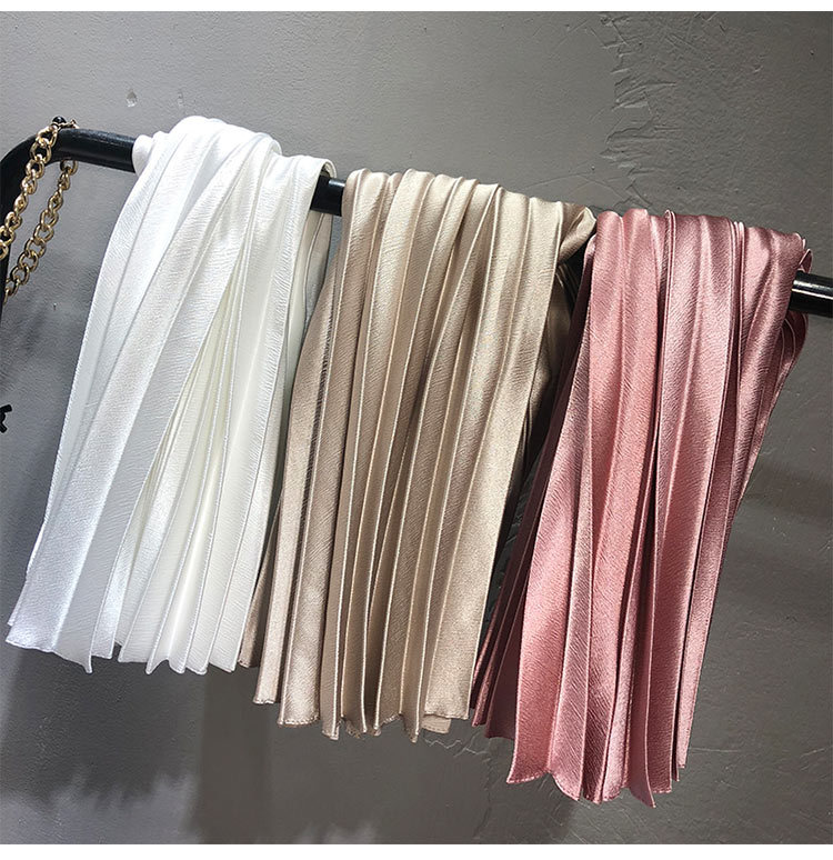 2020 New High Quality Women Summer A-Line Pleated Skirt Stretch High Waist Women Long Skirt Female Jumper Women Midi Skirt Saia