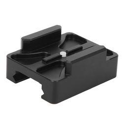 Montura de conexión negra de aleación de aluminio multifunción Placa de liberación rápida 20MM Mini adaptador de riel para accesorios de cámara GOPRO