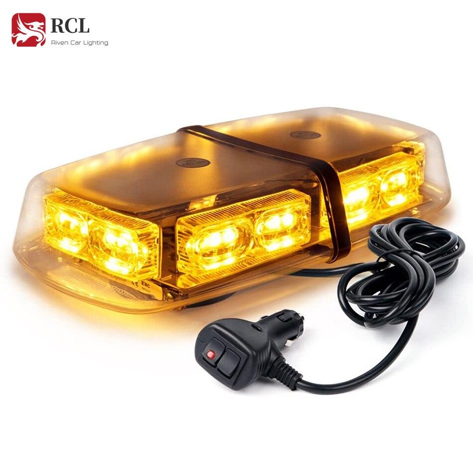 RCL 36 LED çatı Mini Bar Strobe ışıkları yüksek yoğunluklu acil tehlike uyarı tepe ışığı güvenlik dikkat araçlar