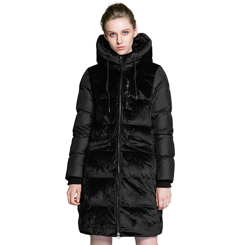 ICEbear 2019 new high quality winter velvet jacket thick warm women's parka clothing fashion casual women's brand coat GWD18080 icebear 2018 new autumn women coat cotton fashion ladies jacket high quality autumn jacket detachable hat brand coat gwc18038d