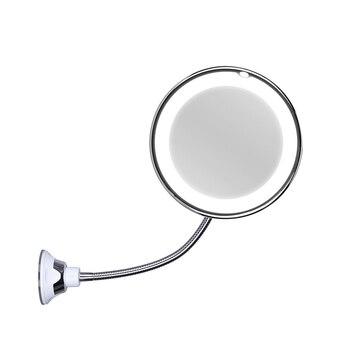 Espejo de baño montado en la pared de espejo de maquillaje LED espejo de aumento función espejo de maquillaje (envío sin batería)