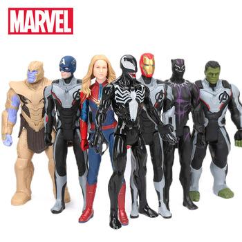 30 cm Marvel zabawki Avengers 4 końcówki Spiderman Thanos Hulk pcv figurka Ironman kapitan ameryka czarna pantera Model figurka tanie i dobre opinie Hasbro Unisex 30cm not suit for under 3 years 6 lat 8 lat 12-15 lat Dorośli 8-11 lat 3 lat Wyroby gotowe Zachodnia animiation