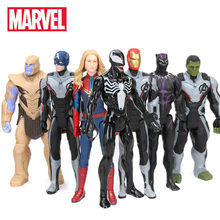 30 cm Marvel Spielzeug Avengers 4 Endgame Spiderman Thanos Hulk PVC Action Figur Ironman Captain America Black Panther Modell Figurine(China)