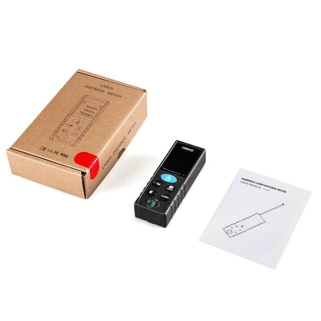 DEKO LRD110 Handheld Laser Distance Meter 40M 60M 80M 100M Mini Laser Rangefinder Laser Tape Range Finder Diastimeter Measure 5