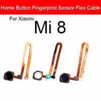 Sensor de huella digital botón de inicio Cable flexible para Xiaomi Mi 8 Mi8 menú tecla de retorno táctil ID Sensor Flex Ribbon piezas de repuesto