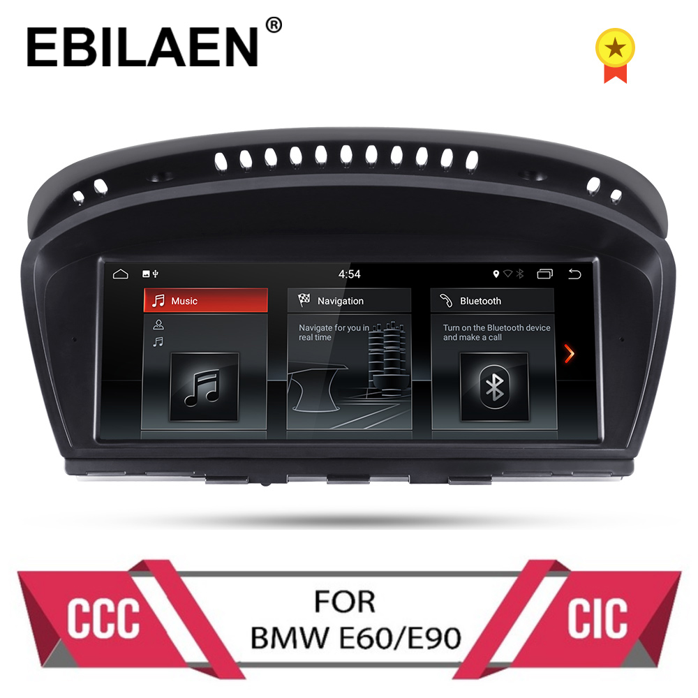 Lecteur dvd de voiture Android 9.0 pour BMW série 5 E60 E61 E62 E63 série 3 E90 E91 CCC/CIC système autoradio gps navigation multimédia