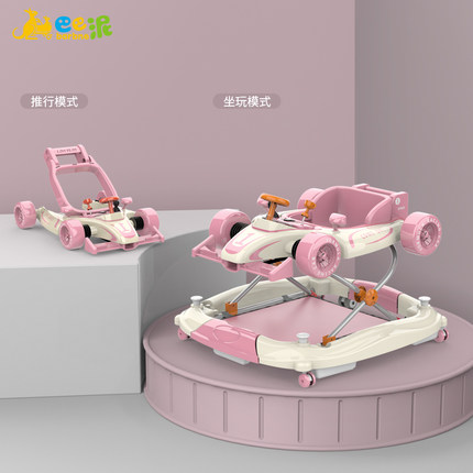 Baby walker boy and girl anti-rollover anti-o leg toy Racing car with music baby first step car walker Sit-to-Stand