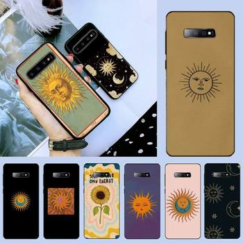 AMULAR Funny Sun Moon Face Painted Phone Case For Samsung S6 S7 edge S8 S9 S10 e plus A10 A50 A70 note8 J7 2017 image
