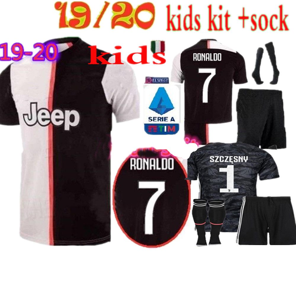 best website 48fdb 356c6 US $21.0 |2019/20 boys Free patch NEW juvees kids kit +socks Soccer Jersey  home Ronaldo 19 20 child suit Football shirt Free shipping on ...