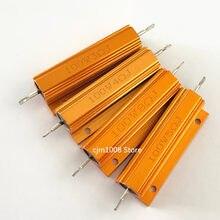PEÇAS de Alumínio Shell Power Metal Caso Wirewound Resistor RX24 1 100W 0.25R 0.3R 0.33R 0.39R 0.4R 0.43R 0.45R 0.47R 0.5R 0.56R 0.6R