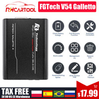 Fgtech Galletto V54 Master Fgtech 0475 0386 Galletto V54 VD300 soporte BDM sin límite obd2 herramienta de sintonización de con Chip ECU de coche