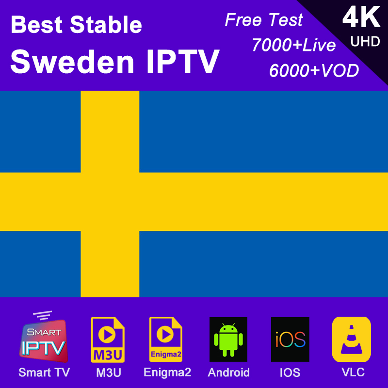 Sweden IPTV subscription m3u abonnement IPTV USA Canada Spain France Germany Portugal Italy Android <font><b>Smart</b></font> <font><b>TV</b></font> Box Enigma2 PC image
