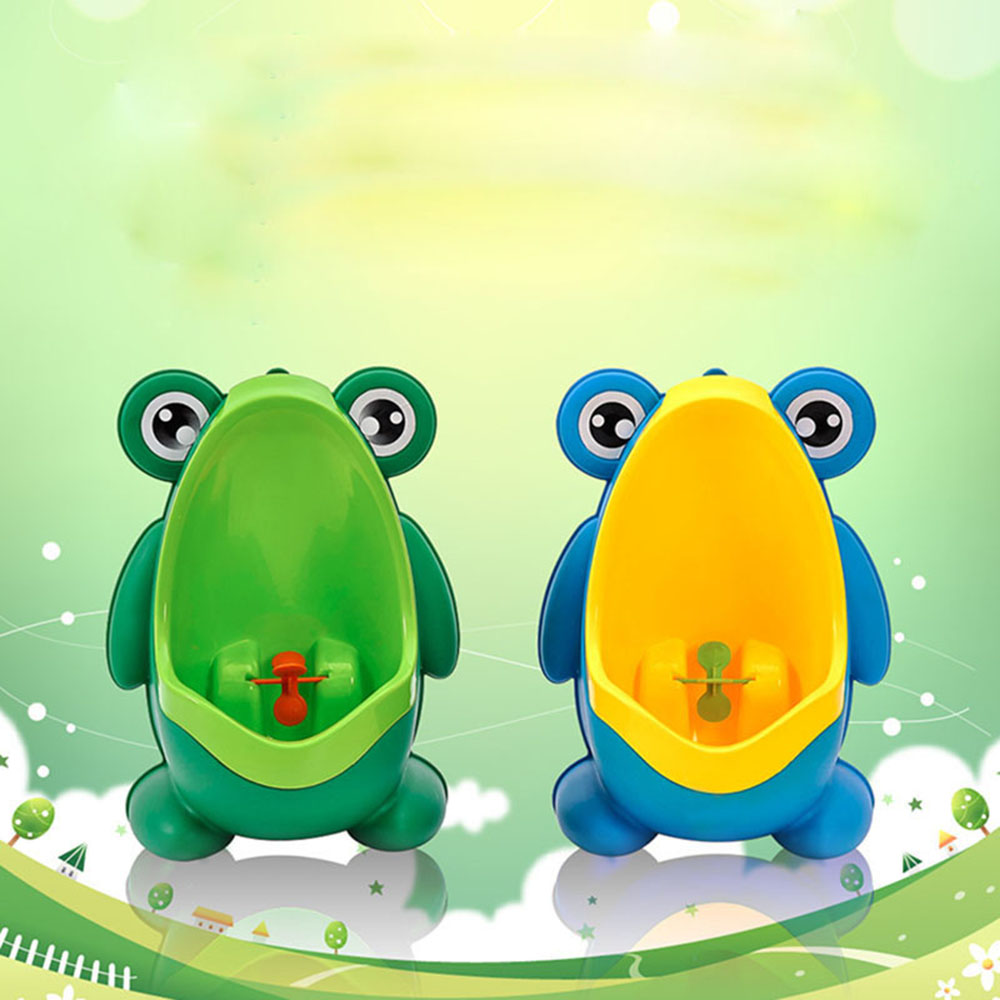 Children Baby Boy Wall-Mounted Hook Frog Potty Toilet Training Frog Stand Vertical Urinal Penico Pee Infant Toddler Bathroom Fr