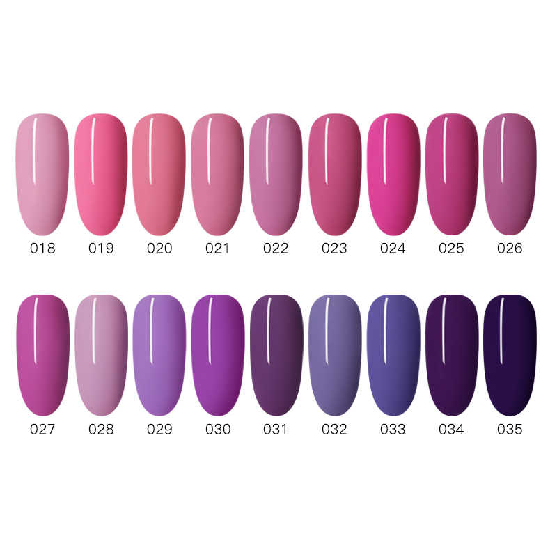 Mtssii 6 Ml Uv Gel Nail Polish Ungu Seri Gel Lacquer Rendam Off Uv Gel Varnish Gellak Semi Permanen Hybrid seni Kuku Gel