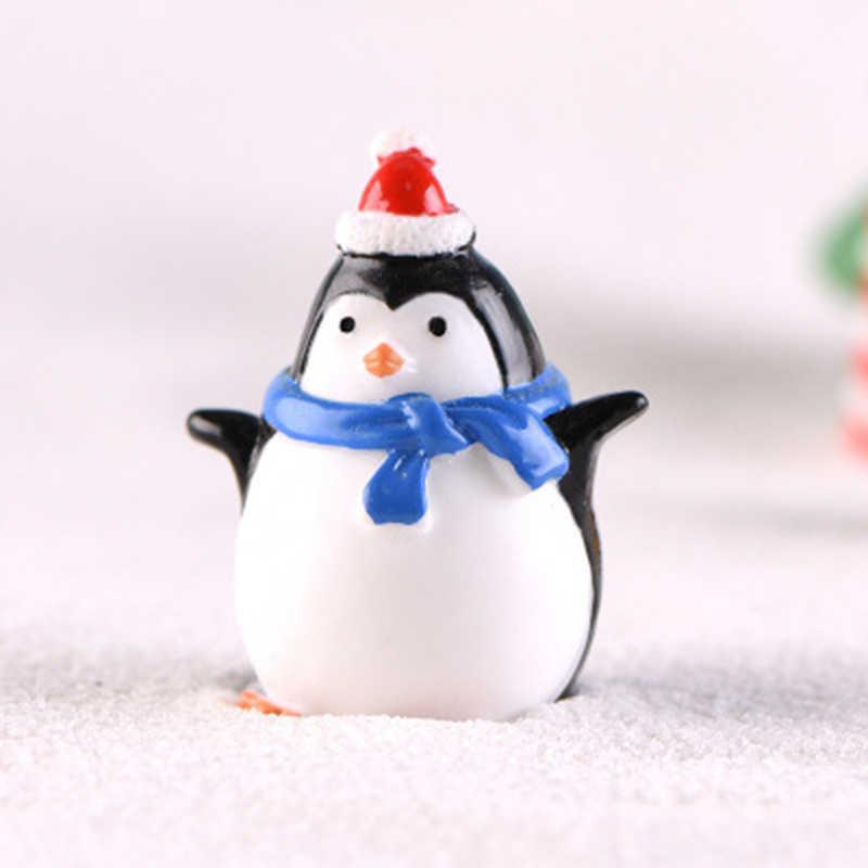 かわいいミニペンギンの装飾品マイクロ風景クリスマス装飾デコレーションガーデン盆栽小さなペンギン家の装飾のため 1PC
